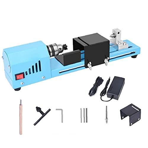 150W Legno tornio mini tornio Macchina Beads lucidatore CC 12-24V da banco Torni per fai da te Handcraft la fabbricazione, Rig Attrezzi rotanti