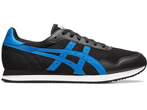 ASICS - Mens Tiger Runner Shoes, Size: 7 D(M) US, Color: Black/Electric Blue