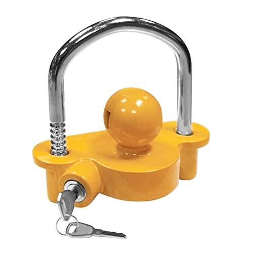 ADFIOADFH Piedra Universal Anti-Robo Lock Hitch Lock Lock Trailer Parts Tow Ball Caravan Camping Anti Robo Trailer Accesorios (Color : Yellow)