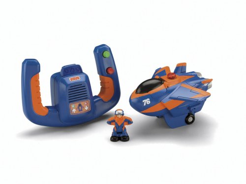 Fisher Price Remote Control GeoAir Plane Blue Flash and Dynamo Dan