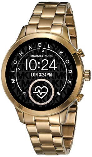 Michael Kors Women's Access Runway Stainless Steel Plated touchscreen Watch Strap, GoldTone, 18 (Model:...