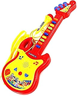 shreeji retails Worlds Guitar Toys for Kids with Microphone (Red)