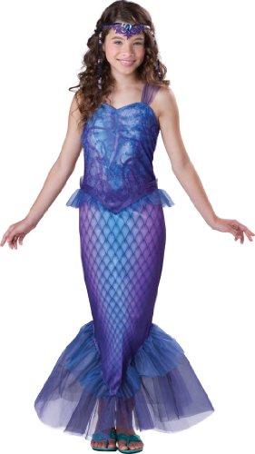 InCharacter Déguisement Sirène pour Fille - Premium - Violet - 10-12 Ans (140-147 cm)