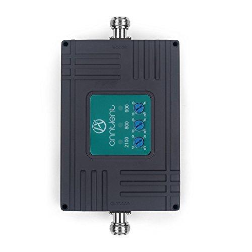 ANNTLENT Amplificador de señal Tri-Band 800/900/2100 MHz Repetidor Senal Movil Teléfono Celular Movil 2G/3G/4G Mejorar la Red y Llamar para en Su Casa/Oficina