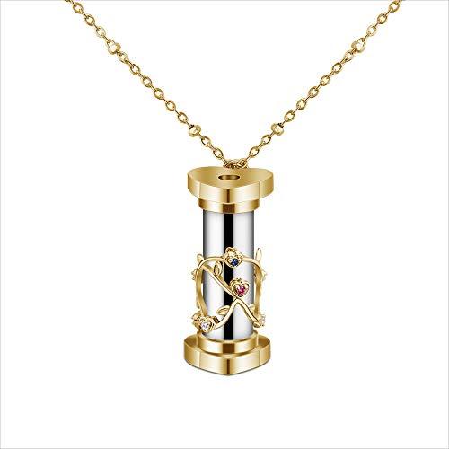 xHxttL Mini Kaleidoscope Pendant Necklace Colorful Kaleidoscope Necklace on 24' Chain Gift for Men Women Kids