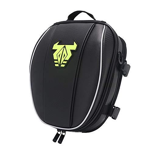 YSMOTO Motorcycle Tail Bag Waterproof Luggage Rear Seat Bag For Sport Outdoors Motorcycle Backpack Helmet Bag Green