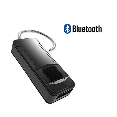 Fingerabdruck Padlock USB aufladbare Mini Smart Vorhängeschloss biometrisches Hochsicherheitsschloss IP65 staub- und wasserdicht Anti-Diebstahl-Vorhängeschloss für Locker, Turnhalle, Tür, Gepäck