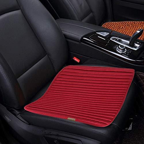 Verwarmde autostoelbekleding, universele vierseizoenen, anti-slip kussen, mat, auto-accessoires, bureaustoel, stoel, stoel, voor auto-familie, kantoor, (2 stuks) Wind red.
