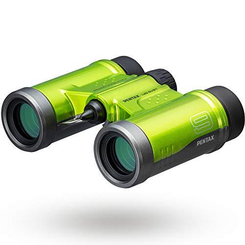 PENTAX 双眼鏡 UD 9x21 グリーン 明るく見やすい視界を確保, 持ち運びしやすいダハプリズムの小型ボディ, フルマルチコーティング採用でフレアやゴーストを抑えた良好な像性能を実現, 倍率と明るさを両立した倍率9倍, 三脚対応, コンサート スポーツ観戦 旅行 メーカー保証1年 ペンタックス 61813