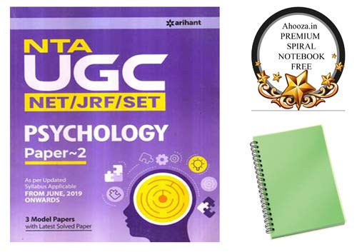 Psychology Complete Book for NTA UGC NET / JRF / SET Exam With Ahooza Premium Spiral Notebook Get Free