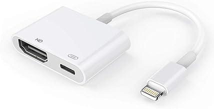 Adaptador de HDMI para el teléfono, 1080P Digital AV Adapter HDTV Pantalla Sync Conector HDMI para la Serie Iphon