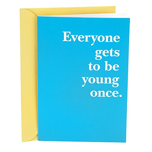 Hallmark Shoebox Funny Birthday Card (Young Once)