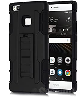 Cocomii Robot Armor Huawei P9 lite/Honor 8 Smart Case New [Heavy Duty] Premium Belt Clip Holster Kickstand Shockproof Bumper [Military Defender] Full Body Rugged Cover for Huawei P9 lite (R.Black)