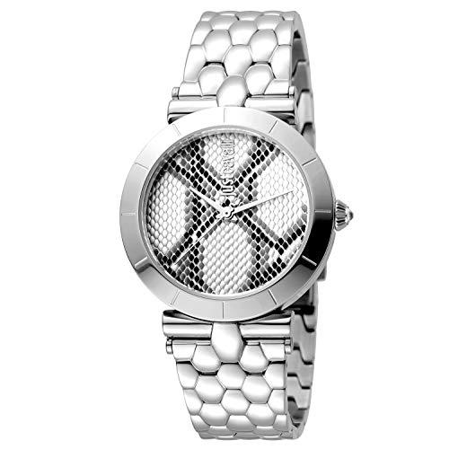 Just Cavalli Damen Analog Quarz Uhr mit Edelstahl Armband JC1L005M0055