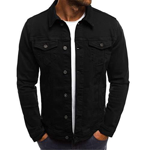 MENHG Herren Einfarbig Lässig Trend Langarmhemden Tops Sweatshirt Herren Mit Knöpfen Revers Turndown Jeanshemden Blusen Slim Fit Multi-Pocket Cardigan Pullover Jacke Outwear Sweater Hemd Mantel