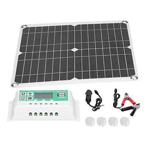 BOTEGRA Kit De Panel Solar, Módulo Solar De Alta Eficiencia De Conversión De Automóviles para Fuentes De Energía Solar