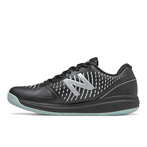 New Balance Women's 796 V2 Hard Court Tennis Shoe, Black/Glacier, 7 X-Wide