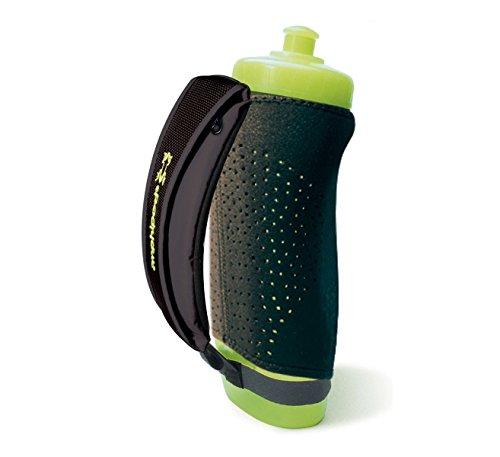 Amphipod 12 oz Hydraform Handheld Thermal Lite Insulated Runners Hydration Bottle Black