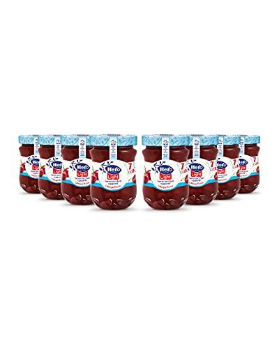 Hero Light Confettura di Ciliegie Rosse light, 8 vasetti da 280 gr ,marmellata e confettura extra, frutta di alta qualità, senza conservanti e senza coloranti, pochissime calorie per porzione