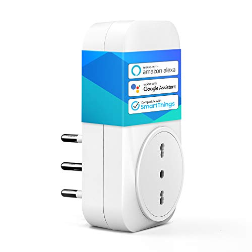 meross Presa Intelligente Wifi Italiana Smart Plug Spina Energy Monitor 16A 3680W, Funzione Timer Compatibile con SmartThings, Amazon Alexa, Google Assistant e IFTTT, APP Controllo Remoto