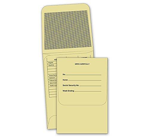 ABC Coin Payroll Envelope, 3 1/8 x 4 5/8″, Brown Kraft...