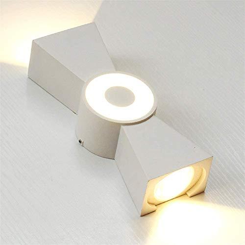Despeje Lámpara de Pared LED Blanca Moderna Dormitorio Interior/al Aire Libre Iluminación de Pared Mesa de Noche Luz de Pared de Pared al Aire Libre Luz de Pared IP44 Impermeable Impermeable Lámpara