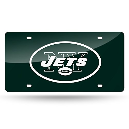 Rico Industries NFL New York Jets Laser Inlaid Metal License Plate Tag