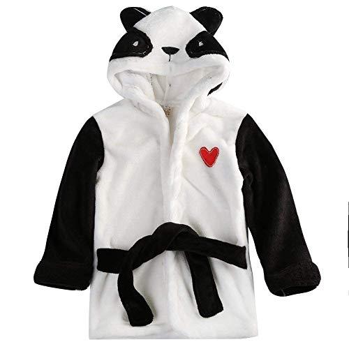 Casa CASA Baby Bademantel Mit Kapuze Nachthemd Säuglings Tier Handtuch Ultra-weiches Fleece Pyjamas Kinderdecke - 130 cm