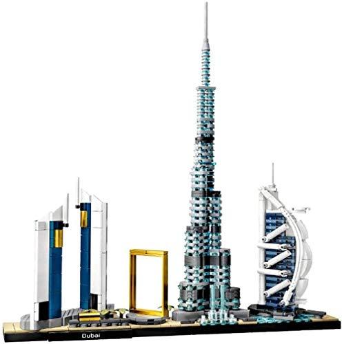 hsj Model Kits Dubai City Skyline, 3D-Modell Architektur Baustein-Satz 786Pcs Nano Mini-Blöcke DIY Spielzeug Kit Kids Weihnachten Exquisite Verarbeitung