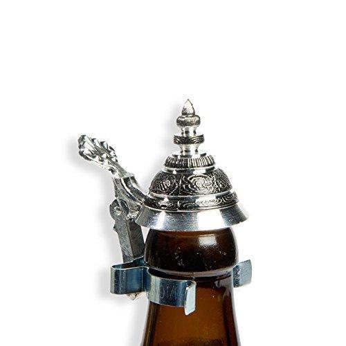 Bierflaschen Spitz-Zinndeckel