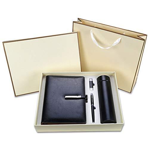 IGRNG Werbegeschenke Notizbuch Schreibwaren Notizblock Geschenke - U-Scheibe, Stift, Thermoskanne, Notizbuch - Geschenkbox Meeting Record Office Book