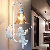 MOZUSA el Norte de Europa Personalidad Europea creativas de la pared la pared del ángel de la lámpara moderna, lámpara de cabecera del dormitorio sala de estar de la lámpara de la lámpara Lamp Hotel B