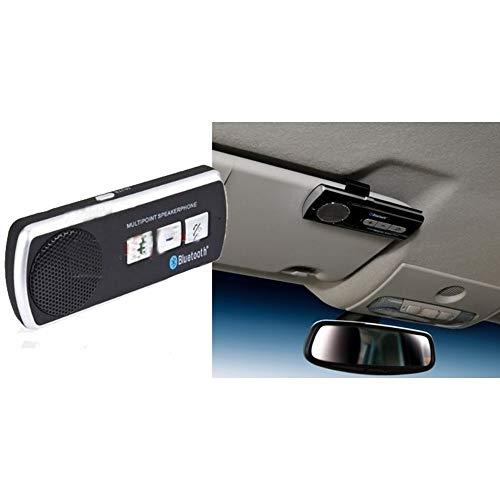 TradeShopTraesio - Kit Vivavoce Bluetooth Auto MULTIPOINT Universale Smartphone Tablet b.t. V3
