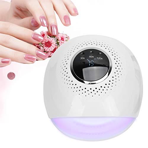 Secador de uñas, secador de uñas lámpara UV LED para uñas de gel Lámpara de manicura 30/60 / 120 S Ajuste de tiempo 84 W Secador de esmalte de gel con pantalla LCD, lámpara UV para uñas(UE)