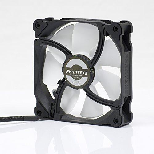 Phanteks 120mm, PWM, High Static Pressure Radiator Retail Cooling Fan PH-F120MP_BK_PWM,Black/White