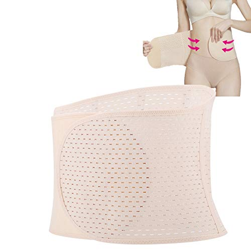 Envoltura de vientre posparto, adelgazamiento Cinturón de vientre Fajas Fajas Control de la barriga Pérdida de peso Faja del cuerpo Soporte de maternidad elástico Envoltura(02# beige)