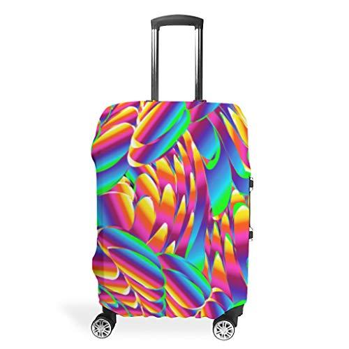 Colorido equipaje de viaje cubierta Spandex maleta protector lavable equipaje cubre, White (Blanco) - Muerlinanajj768