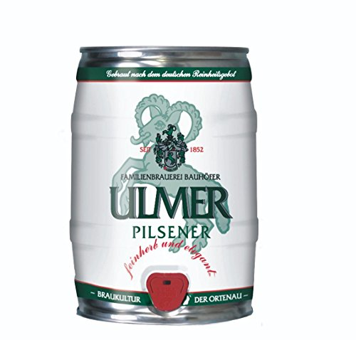 Ulmer Pilsner Partyfass 5,0 Liter 5,2% vol.