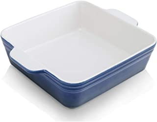 KOOV Ceramic Bakeware, 8x8 Baking Dish, Square Baking Pan, Ceramic Baking Dish, Brownie Pans for Cake Dinner, Kitchen, Gra...