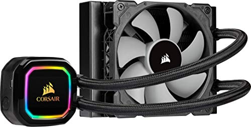 Corsair iCUE H60i RGB PRO XT Refrigerador Líquido para CPU Ventilador de Levitación Magnética de 120 mm Corsair ML Series, Controlado por PWM, 400, 2.400 RPM, Cabezal Bombeo RGB y Multizona, Negro
