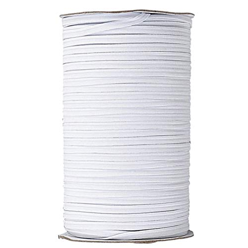 Best Price! 200 Yards Flat Elastic Band Rubber Strap Rope Ribbon Cloth Sewing Accessory (White, Widt...