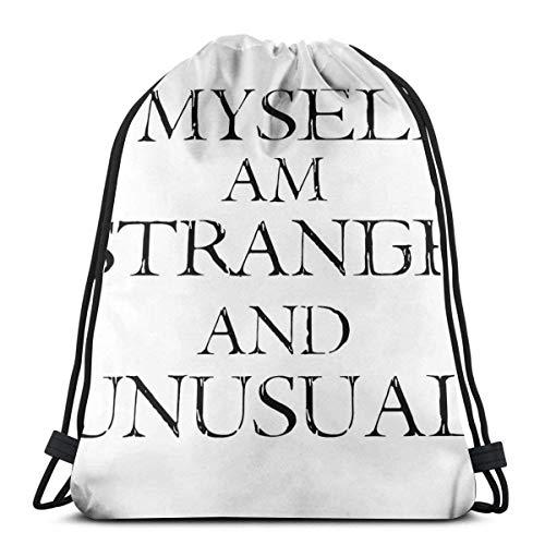 Bolsa con cordón I Myself Am Strange & Unusual Sports N Bag Bolsa de viaje Bolsa de regalo