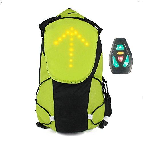 Bicicleta impermeable Codream® con mochila trampeado hombro ultraligeros deporte luces LED que acampa al aire libre caballo de hidratación bolsa de agua viaje montañismo Verde verde