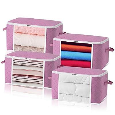 Clothes Storage Bag Foldable Closet Organizer 4...