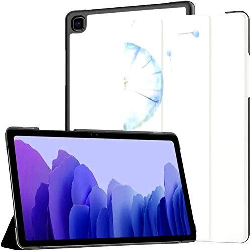 Funda para Samsung Galaxy Tab A7 Tableta de 10,4 Pulgadas 2020 (sm-t500 / t505 / t507), Acuarela Diente de león 1 ilustración Floral Vectorial Funda de Soporte de ángulo múltiple con activación/Sus