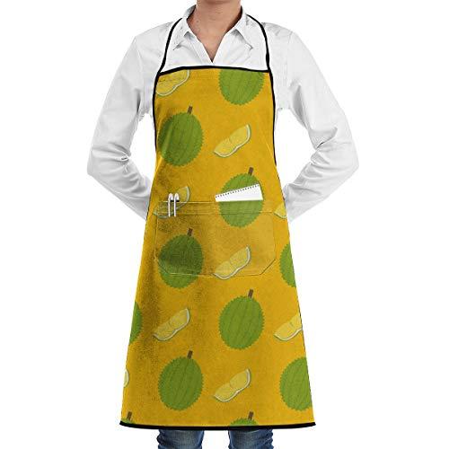 POOP LOOL Durian und Schnittmuster einstellbare Küche Latzchen BBQ Arbeitsschürze mit Taschen