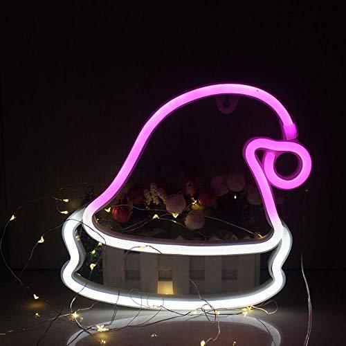 Neonschild, Weihnachtsmütze, Wanddekoration für Zuhause, Kaffee, Bar, Wandbild, Basteln, Heimdekoration, Lampe