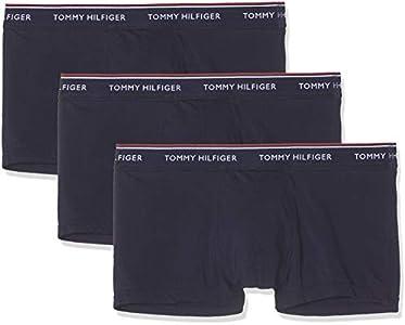Tommy Hilfiger 3p Lr Trunk Boxer, Azul (Peacoat-pt 409), M (Pack de 3) para Hombre