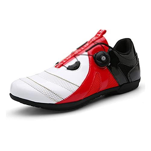 LIXIAOHONGG Zapatillas De Ciclismo para Adultos,Calzado para Bicicletas,Zapatillas De Bicicleta De Montaña Transpirables, Zapatillas Deportivas Antideslizantes Resistentes Al Desgaste Profesionales