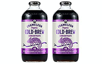 [Pack of 2] Chameleon Cold Brew Coffee Concentrates, New Orleans Style, USDA Organic Specialty Grade - 32 Fl Oz